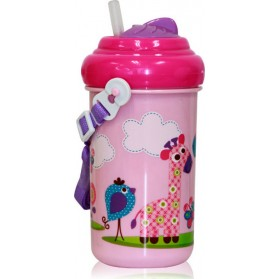 Παγουρίνο Toddler Zoo Pink 6+m Lorelli Bertoni 360ml